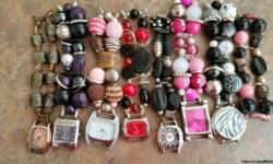 Beaded Watches interchangeable. Lots to choose from. Text for more pictures.