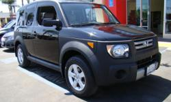 How would you like a piece of one of the hottest boxes in town?! The Honda Element redefined the box-car phenomenon by throwing in Honda's legendeary quality and gas mileage into the mix with a beefier yet sportier design! Beautiful ivory and black