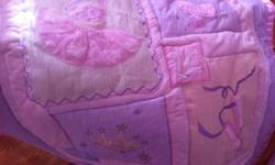 Princess, Fairy, Ballerina Ballet Shoes Baby Girl Nursey ADORABLE. This may be one of the cutest crib set I have EVER seen! It is by Kidsline and has every baby girls' future dreams on it--princess, fairy, ballerina shoes and tutu and so on. A MUST for