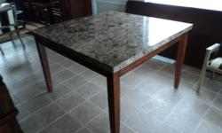 """DESCRIPTION: BRAND: COASTER COUNTER HEIGHT 54"""" by 54"""" SQUARE TABLE HAND PICKED MARBLE THIS TABLE IS BRAND NEW PURCHASE PRICE: $800.00 SELLING FOR: $230.00 OBO"""