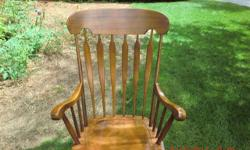 My wife bought this chair a few years ago and hardly used it. We don't have room for it now and want to make someone happy with it. As you can see it is in great shape, no scratches or dents and rocks nicely.