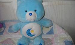 *~*This is a Sweet Little Bedtime Bear, It has been played with and might need a light cleaning..a little fading on the heart on bottom but over all good. She measures about 13 inches tall. Its from a smoke free home. *~*  YOU CAN CALL