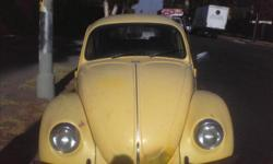 Yellow 1970's Beetle, Volkwagon. Good Condition. For More Info. Feel Free To Contact Me.