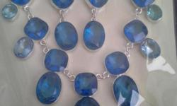 beautiful job stone necklaces 925 sterling silver. genuine and lab created stones.