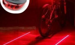 Bicycle LED Light 2 Lasers Night Cycling Bike Saddle Safety MTB Road Rear Lights Lamp Backlight $3.99 Item Type : Bicycle RearLight Weight : 50g Color : Red , Colorful , Blue Suit For : Mountain RoadBike Bicycle Safe andEnjoy cycling in