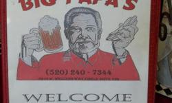 Big Papa's restaurant for sale. Turn-key 8-year business. Owners retiring. Reduced price of $62,500 (O.B.O.)is $12,500 below original start-up cost!! Call Roger @ () - for more information.