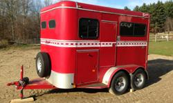 Two Horse Bison Trailer, step up, no ramp for easy loading. Manger for hay, lots of storage underneath. Great condition, like new, no rust. Asking $4800. Call/text -- or email katie_ivey23@yahoo.com