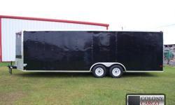 Stock #: CUSTOM ORDER Serial #:order Description :::::: 8.5x24 car hauler standard features: v-nose front w/ solid front wall construction, 4000 lb. Heavy duty rear ramp door w/ ramp extension flap &
