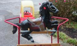 A rocking horse that's just right for a 3-5 year old child. Great Condition.