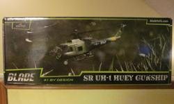 FOR THE HOBBY ENTHUSIAST.BLADE SR UH-1 HUEY GUNSHIP. 6-CHANNEL HP6DSM 2.4GHZ TRANSMITTER.RTF/READY TO FLY.