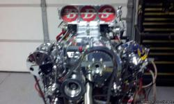this one of kind show motor for street rod or race car best of everything call for more info please call chuck motgomery @ -- or cell @ -- over $25,000.00 to build.Can here run on test stand.
