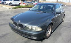 1999 528I, ALL POWER SEATS,WINDOWS, LOCKS, LEATHER INTERIOR, TRANSMISSION SMOOTH, AUTOMATIC, SUNROOF, GREAT ON GAS.