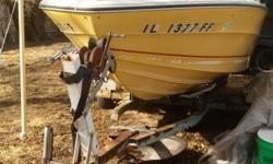 Boat for sale sea ray 18' 1974, needs some work, good i/o motor and propel ,more details text at #630-330-9521