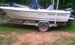 2001 18ft Sea Hunt wih 90hp Johnson motor. EUC Selling due to husbands health. All service records and clean title