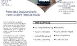 Full Service Bookkeeping services: Job Costing Payroll Services Contract Management Business Consulting