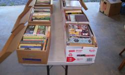 I have 7 boxes of books I would like to sell. There are at lest 5 to 10 books in each box. I would like $10.00 dollors a box for each box.  Andy