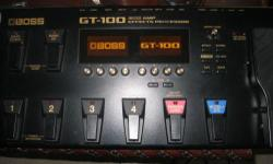 The Boss GT100 is in almost brand new Cond. It was only used a couple to 5x max. A couple of experimentations, and I decided to go back to using effect pedals. Grab this Beauty now.   Advanced COSM amps that model vintage