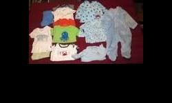 Boy?s Baby Clothes 3 Months ? Good Condition $10.00 OBO  Clothes are by Carter?s, Garanimals, Janie and Jack, Baby Works, Faded Glory, Mud Pie, Place, Baby Gap, First Moments, and Children?s Place  1- Pants 1 ? Outfit 5 ? Onesies 1 ?