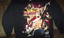 WWE World Wrestling Entertainment Boys Black Shirts (Pictures on Front) SMACK DOWN - Size XS (4-5) Short Sleeve-$8 RAW - Size XS (4-5) Long Sleeve-$8 WW Authentic Short Sleeve- Size Youth Med -$10 All in excellent condition - Would make great
