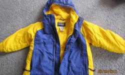 LL Bean Winter Coat and matching Snow Bib, like new! Sz 4