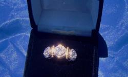 Brand new Diamond Ladies Diamond ring.14k gold with 66 diamonds.Comes with original box and papers,also GIA Certificate.Original retail price $6,899.00.willing to meet in person for transaction.Ask for Yvonne.
