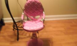 pink beauty parlor chair 16 inches high
