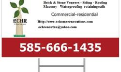 EC HOME RENOVATIONS Our construction experts are dedicated to completing your project (large or small) with quality results, on time, and within your budget. Gutter installations or repair, Brick or stone veneers Roofing ,Siding, Masonry, Masonry