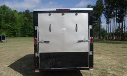 Stock #: CUSTOM ORDER Serial #:ORDER Description :::::: >> ai 6x12 sa enclosed cargo trailer: v-nose front w/ solid front wall construction, rear ramp door & spring assist, 32' side door w/ rv flush