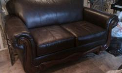 I have a brown vinyl love seat for sale. It has scratches and claw marks on it from my cats. Fortunately the stuffing is not coming out but the vinyl has holes and tear marks in several places. The loveseat measures 64L x 39D x 40H.
