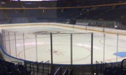 I have a pair of lower level tickets to the Sabres games in Section 113, Row 14. Row 14 is just right to see all the rink without obstructions and close enough to feel like your part of the action. These seats are high enough to provide a great view