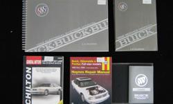 1992 Buick Le Sabre Manuals: GM Owners Manual, GM Repair Manual, GM Electrical Systems Manual, Haynes Repair Manual, Chilton Repair Manual, all 5 manuals for $100., firm, (760)746-7209