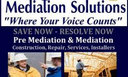 CONSTRUCTION MEDIATION SERVICES - ROAD CONSTRUCTION - MACHINE OPERATORS - OWNER OPERATORS - TRUCK DRIVERS - HOME CONSTRUCTION - BUILDERS - LABORS - INSTALLERS - PLUMBERS - ELECTRICIANS - BRICK LAYERS - ROOFERS THIS IS FOR YOU! Choice Mediation Services