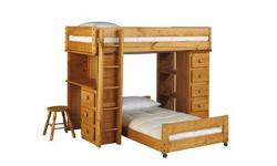 Cabin Retreat Full Stair Loft Bed (Stool not included); 7 drawers; Great Condition.