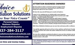 Business Claims - Disputes -Disagreements Contracts Billing/Accounts Payable- Receivable Vendor Disputes/Warranty/Delays/Loss Customer/Product or Service Liability Customer Service Are you in the beginning stage wandering if you want to pursue a lawsuit?