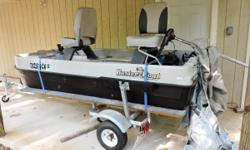LIKE NEW--ONLY BEEN IN THE WATER A FEW TIMES. INCLUDES 2 EXTRA BATTERIES, 2 OARS, 2 LIFEJACKETS, FISHING NET, AND LINE RETREIVER . HAS 2 DEPTH FINDERS , AND 2 DEEP WELLS. CALL 903-613-0083.