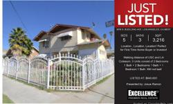 Location, Location, Location! Perfect for First Time Home Buyer or investor!  Walking distance of USC and LA Coliseum. 3 Units consist of 2 Bedrooms 1 Bath + 2 Bedrooms 1 Bath +1 Bedroom 1 Bath. Will not last!