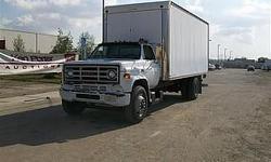 GMC C7000 DIESEL BOB TAIL BOX TRUCK HAS AIR BRAKES TOOL BOX TIRE SIZE 10R22.5,, SUPREME TRUCK BODY, QUADCO TRANSMISSION, MAXON 4000 LBS CAPACITY LIFT GATE