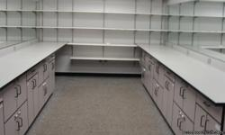 these cabins, mirrors, Shelving are for sale.  1 The counter tops are approxiatly 20 ft long  Cabinets are