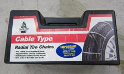 I started cleaning out the garage and realized I had a pair of cable style tire chains for a car that I no longer have. They are in excellent condition and I don't really remember ever using them. So I am asking $35 or best offer. Take a