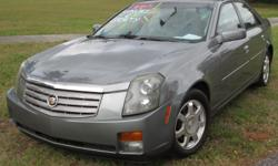 """PRICE REDUCED!!!! This is a 2004 Cadillac CTS for sale. This car has beautiful two tone leather interior and a sunroof. This CTS is very comfortable to drive and has some """"get up and go"""" when you want it to.Please feel free to call with any"""