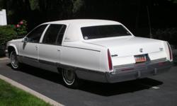 CADILLAC FLEETWOOD BROUGHAM with the economical Corvette type engine 5.7 liter maintained with bills proving GREAT CARE. Firestone Tires by Burt Brothers ? Transmission rebuilt by Tanner Transmission.