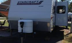 This Camper is in great shape, its a 2010 Star Craft Travel Trailer---Autum RidgeSeries---32' with 2 slideouts---This camper is a bunk house model, sleeps 6. Great for the family or to take out hunting!!! So deer hunters you need to come look