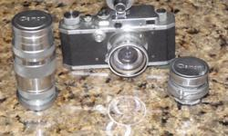 Discovered amonst the personal belongings of a retired U.S. Army Colonel who was stationed in Japan after the surrender. Canon 35mm rangefinder camera believed to be a S II circa late 1948. Camera body has a Ernst Leitz 35mm f-3.5 Summaron lens affixed.