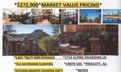 """**Gorgeous condo!! """"ATTENTION GOLFERS""""...**Golf Course Opens """"July 5th, 2015' **Club re-opening this""""Memorial Day""""-**Soft Openning**... *CONDO Has*Updated kitchen &* Baths, *LOVELY DECK ... **2.5 miles to downtown Prescott"""