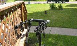 "4 place bike rack, good condition, SARIS brand. Fits 2"" reciver. phone 1218 879-4063"