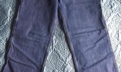 Two pair of pants. New. Denim and duck canvas. Women's size 12 x 28