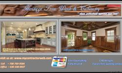 Heritage Trim Works Inc. provides services such as but not limited to: - custom cabinetry - interior and exterior door installation. - design and finishing custom book cases, libraries and cinema rooms. - fireplace surrounds and stair rails. - all