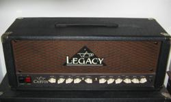 For sale here I have a Carvin Legacy Steve Vai signature amplifier head. It is both cosmetically and functionally just like new! I bought it a couple years ago but have not been able to use it because it is just too loud for where I live. Regret having to