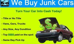 WE WILL BUY YOUR JUNK CARS! GUARANTEE! CASH IN HAND! PICK UP ASAP! TOWING READY! NEED CASH ASAP! CALL ME! NOT RUNNING? NO PAPERWORK? ITS OK! CALL OR TXT 951) 347 47 TWO ONE
