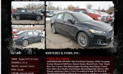 Ford Fusion Titanium AWD 4dr Sedan Automatic 6-Speed Dark Side Metallic 12335 I4 2.0L I42014 Sedan RHINEBECK FORD, INC. 845-876-4440
